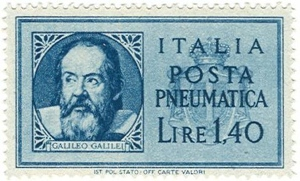 Francobollo Galileo 1945